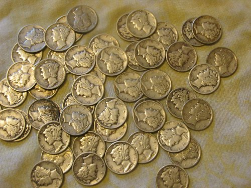 110 mercury dimes or $11.00 worth