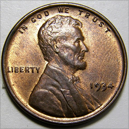 1934 P Lincoln Wheat Cent #4