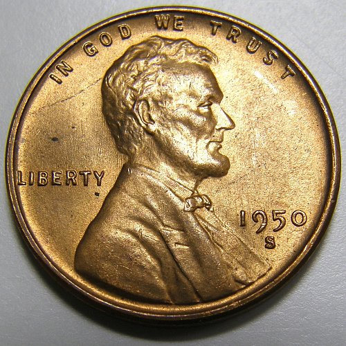 1950 S Lincoln Wheat Cent #3