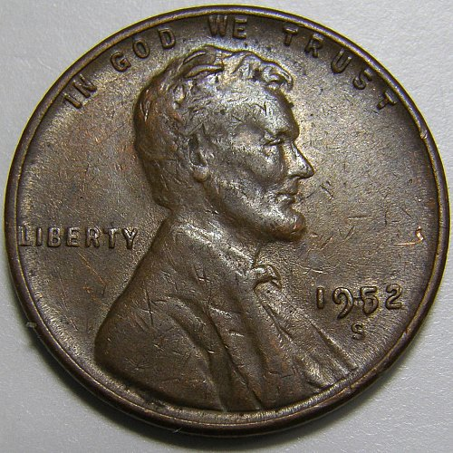 1952 S Lincoln Wheat Cent #1