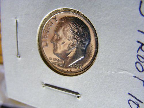 1955 Roosevelt Proof Silver Dime