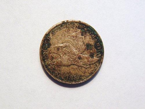 1858 *Large Letters* Flying Eagle Cent