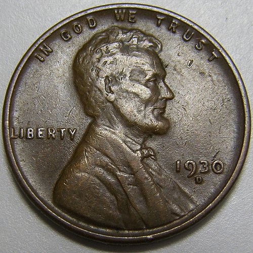 1930 D Lincoln Wheat Cent #4