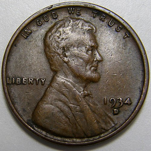 1934 D Lincoln Wheat Cent #3