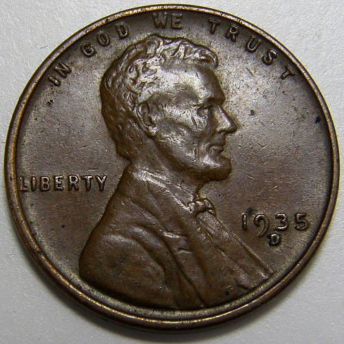 1935 D Lincoln Wheat Cent #3