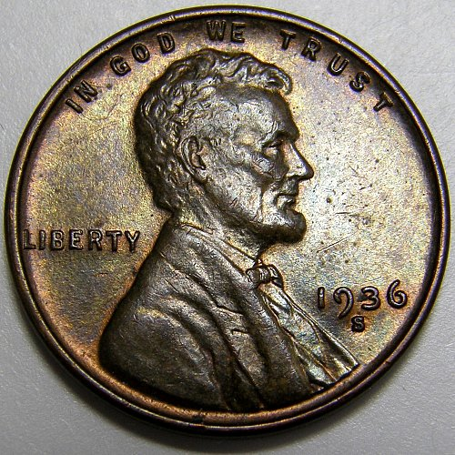 1936 S Lincoln Wheat Cent #3