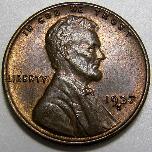 1937 S Lincoln Wheat Cent #4