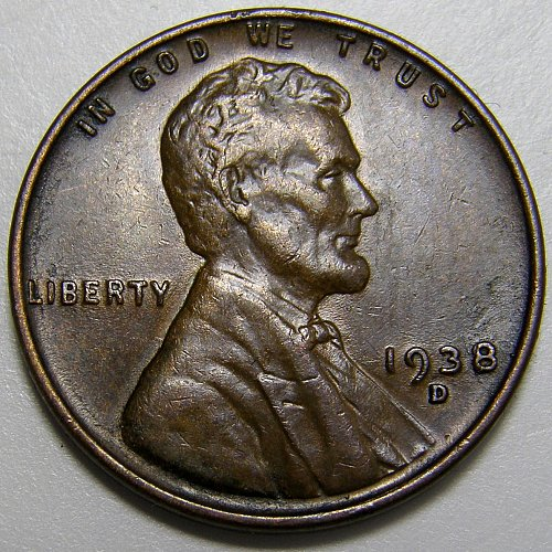 1938 D Lincoln Wheat Cent #6