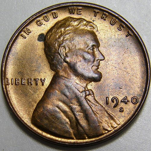 1940 S Lincoln Wheat Cent #5