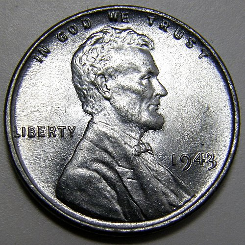 1943 P Lincoln Wheat Cent #4 Exceptional Coin