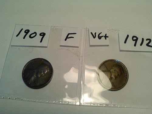 1909 AND 1912 WHEAT CENTS