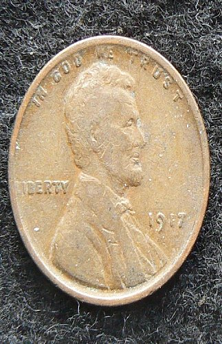 1917 P Lincoln Wheat Cent (F-12)