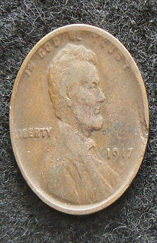 1917 D Lincoln Wheat Cent (VF-20) damaged