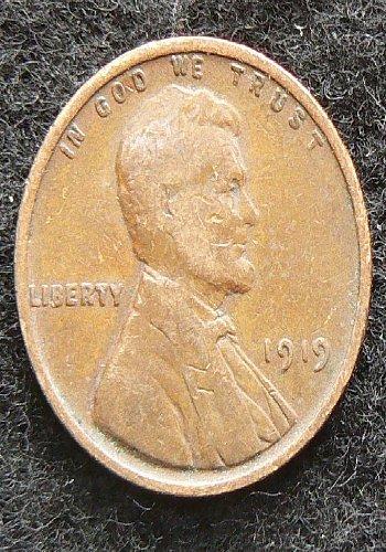 1919 P Lincoln Wheat Cent (F-12)
