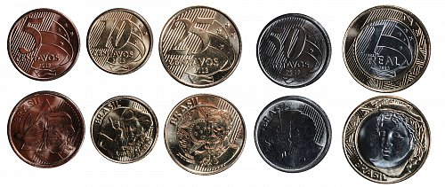 BRAZIL 1 SET OF REAL COINS 2013 - EURO PATTERN - UNCIRCULATED