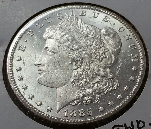 1885 CC Morgan Dollar ~ MS 61
