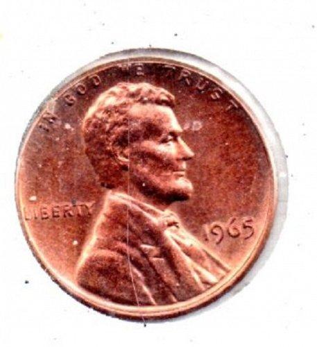 1965 p Unc Lincoln Memorial Pennie