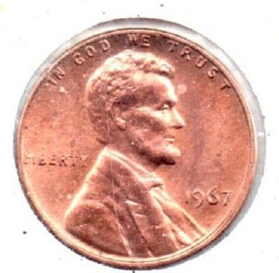 1967p Lincoln Memorial Penny