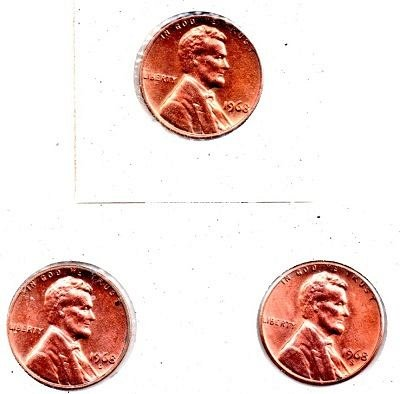 1968 pds Lincoln Memorial Penny - UNC