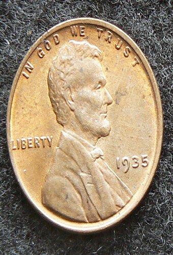 1935 P Lincoln Wheat Cent (AU)