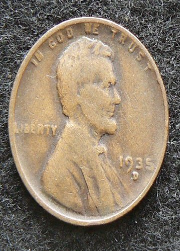 1935 D Lincoln Wheat Cent (VG-8)