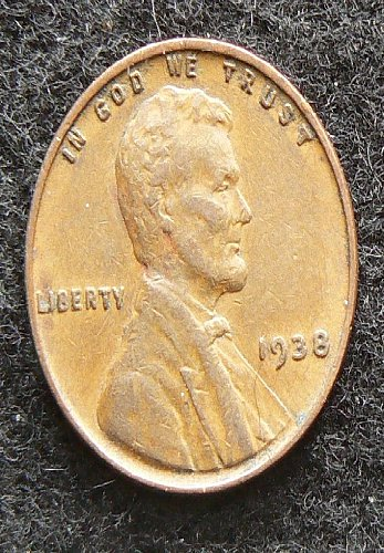 1938 P Lincoln Wheat Cent (EF-40)