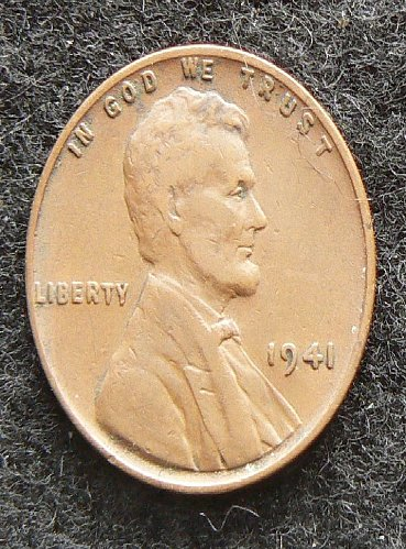 1941 P Lincoln Wheat Cent (F-12)