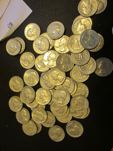 $18.00 /  72 Washington quarters 1951 through 1964