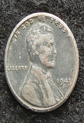 1943 S Lincoln Wheat Cent (F-12)