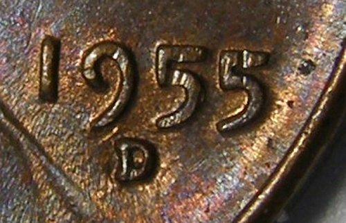 1955 D/D Lincoln Wheat Cent #6 RPM-006