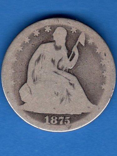 1875 Seated Liberty Half Dollar Genuine Natural US Coins Nice
