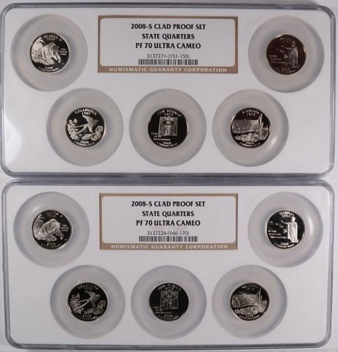 2008- S CLAD PROOF SET STATE QUARTERS