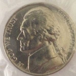 1985 P JEFFERSON NICKEL 5C  - MS / BU