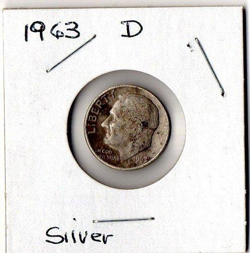 1963 D Silver Roosevelt Dime