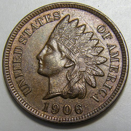 1906 Indian Head Cent #18 Scratched