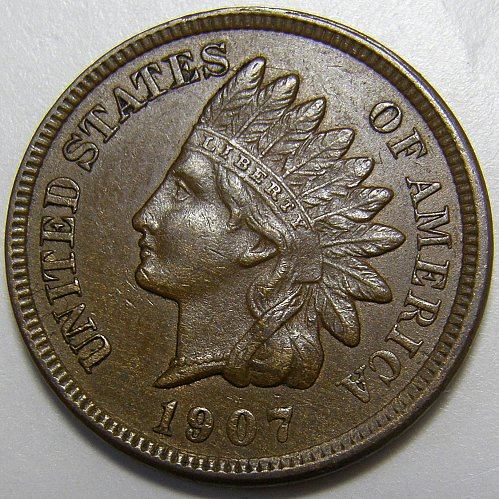 1907 Indian Head Cent #15