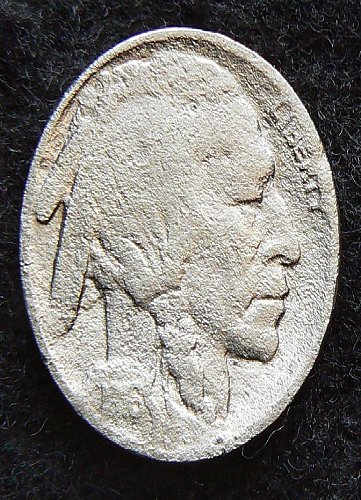 1916 P Buffalo Nickel (F-12) corroded