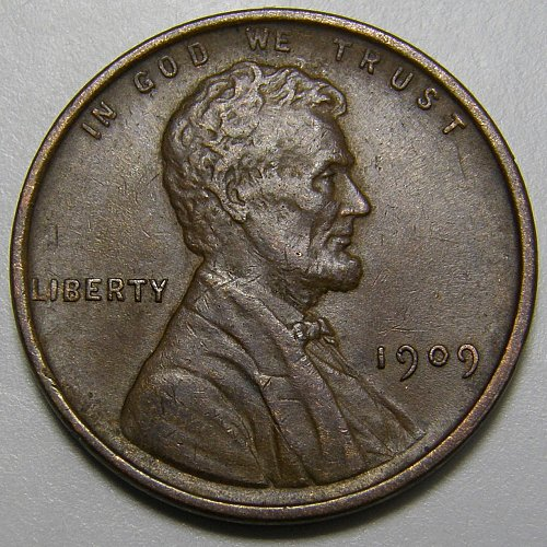 1909 P VDB Lincoln Wheat Cent Cent #8