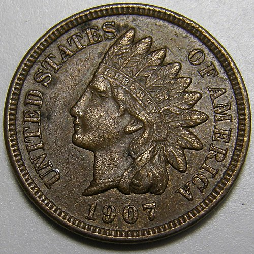 1907 Indian Head Cent #16