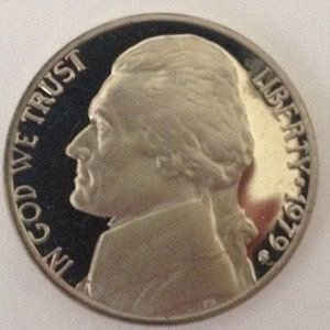 1979 S JEFFERSON NICKEL 5C - PROOF - TYPE 1