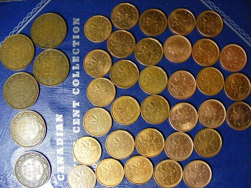 1911 - 2012 CANADA PENNY 92 COIN COLLECTION