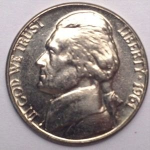 1961 D JEFFERSON NICKEL 5C - BU - UNC