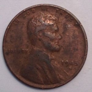 1945 S LINCOLN WHEAT PENNY