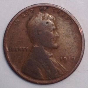 1919 P LINCOLN WHEAT PENNY