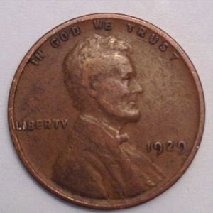 1929 P LINCOLN WHEAT PENNY