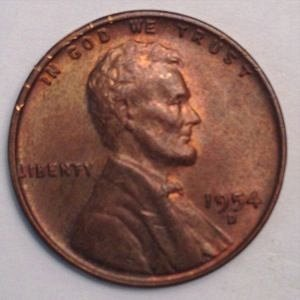 1954 D LINCOLN WHEAT PENNY