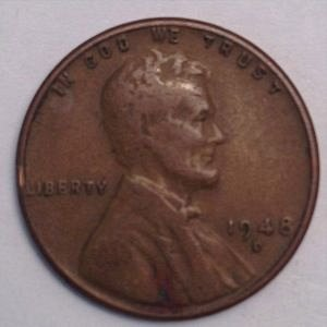 1948 D LINCOLN WHEAT PENNY