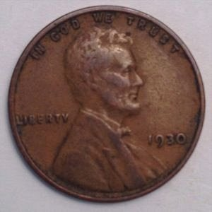 1930 P LINCOLN WHEAT PENNY
