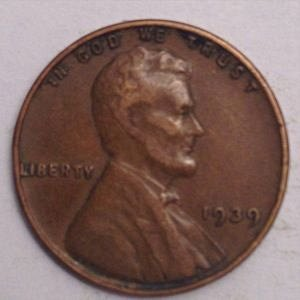 1939 P LINCOLN WHEAT PENNY