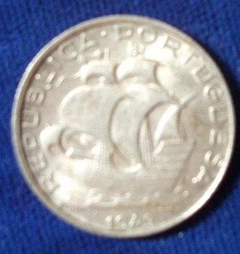 1943 Portugal 2 1/2 Escudos AU